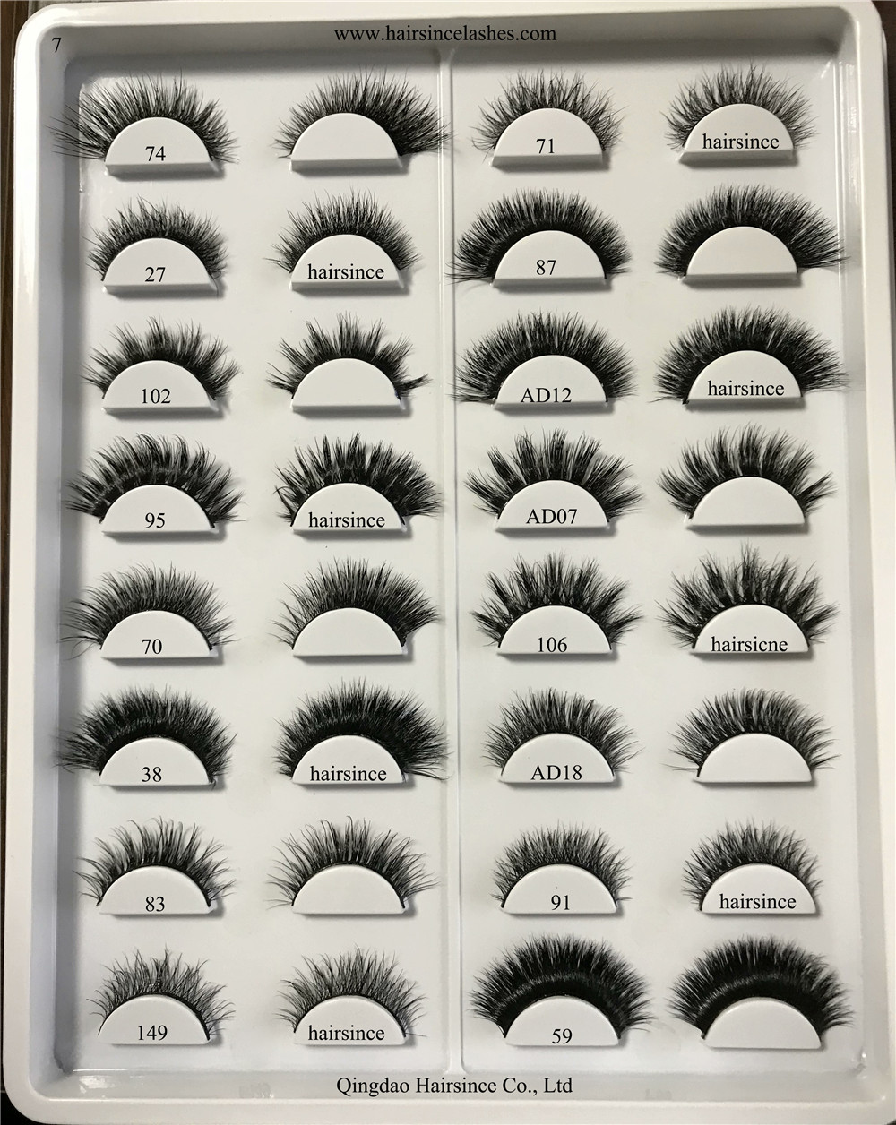 Good quality factory direct on sale 3D mink hair lashes eyelashes supply