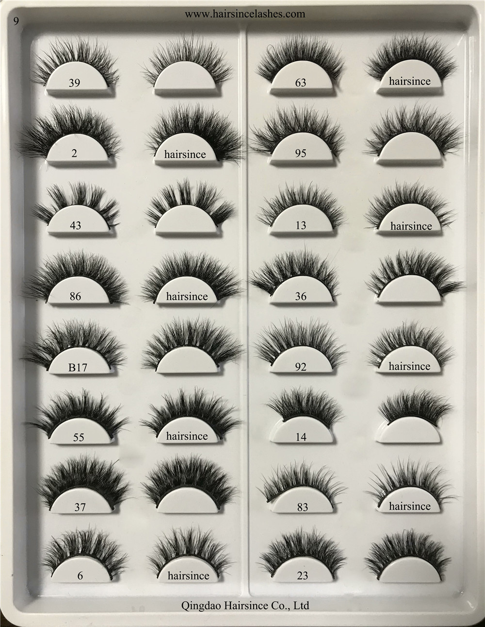 Many styles 3D mink hair lashes silk hair lashes human hair lashes factory supply