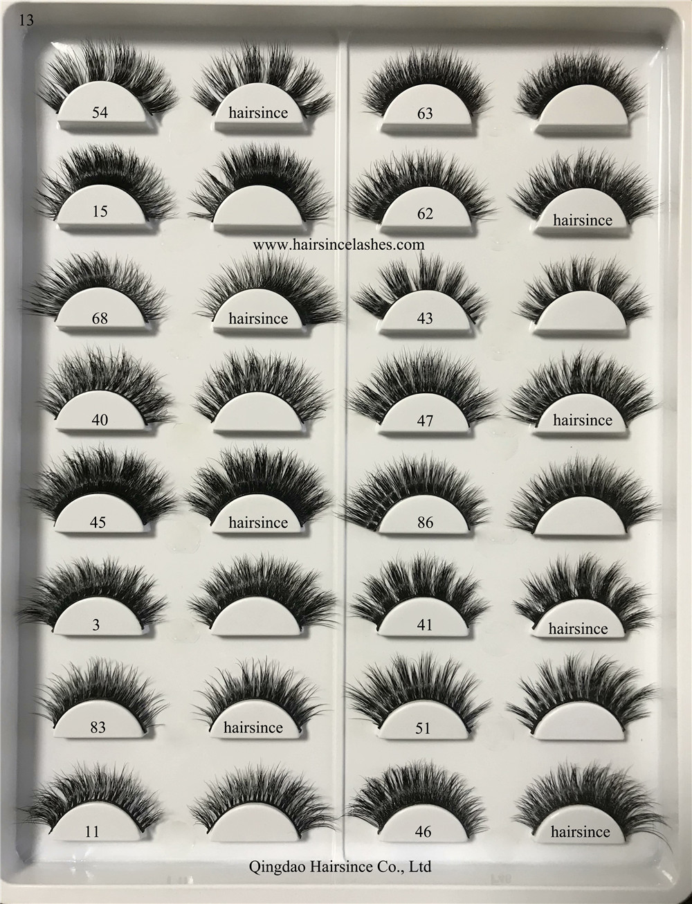 Natural looks mink hair lashes 3D style good price on sale